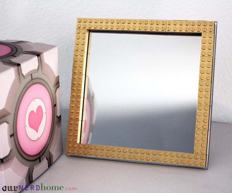 OurNerdHome-DIY-Gold-LEGO-Mirror-Frame
